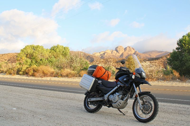 CA to OK on a F650GS