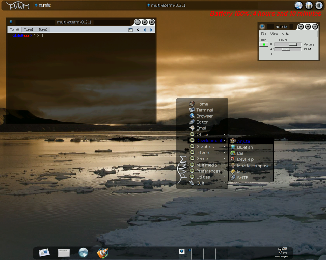 Make a pretty Fvwm desktop on FreeBSD